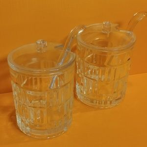 Made in France glass condiment jars